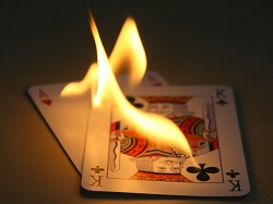 blackjack on fire